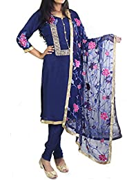 2725c15bab Nivetas Design Studio Blue embroidered salwar suit - in trouser style and  exclusive embroidery work,