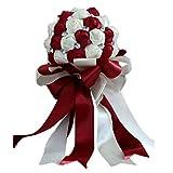Sunlera Braut-Holding-Blume Reiner Handgemachter Strass Band Bridesmaids Bouquet