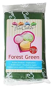 FunCakes Pasta di Zucchero Verde Foresta  - pacco da 250 grammi