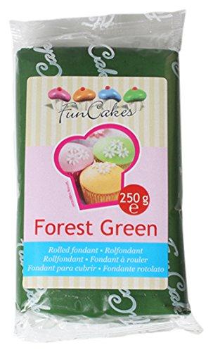 FunCakes Fondant, waldgrün, 1er Pack (1 x 250 g)