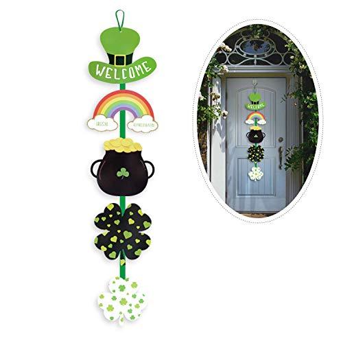 Day Dekorationen,Saint Patrick Day Türschild/St.Patrick Wandschild mit Spruch Welcome Anhänger Deko ()