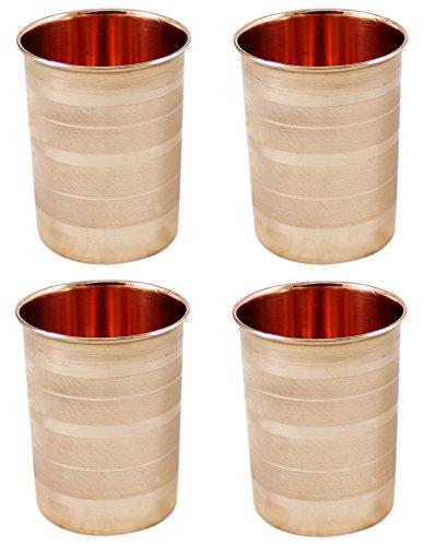 verres à eau en cuivre vintage gobelets vaisselle accessoires ensemble de 4 350 ml (Kinder 4 Unzen Von Flüssigkeit)