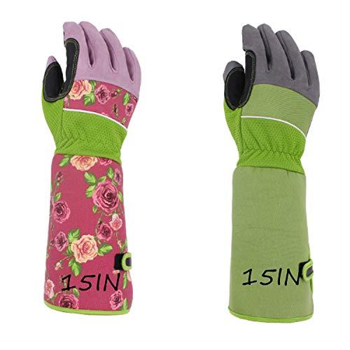 Handschuh Rose Beschneidungshandschuhe für Männer und Frauen, durchstichfester Thorn Proof-Handschuh mit langem Stulpe-Unterarm schützen die Hände, beste Garten-Geschenke und Werkzeuge für Gärtner (Thorn Proof-garten-handschuhe)