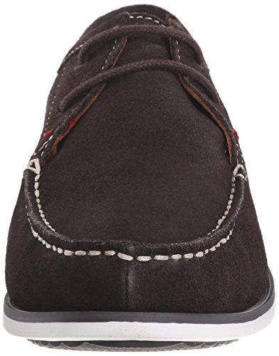 Hush Puppies Men's Briggs Portland Moccasin, Dark Brown Suede, 10 M US Dark Brown Suede