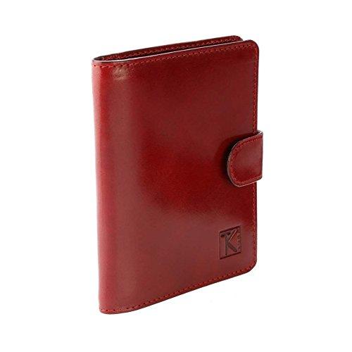 TK 1979 - Porte-cartes / Portefeuille cuir / étui rouge TK055 Achat/Cadeau utile homme/femme - Rouge, Cuir