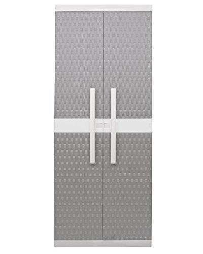 Ondis24 Kunststoffspindschrank Besenschrank Rattan XL