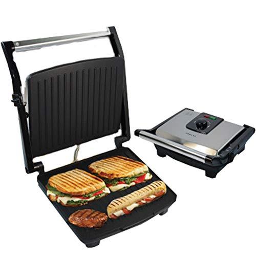 JINRU Multifunktions-Grillmaschine, 2000W High Power, Kann Regelmäßig Eingestellt Werden, 180 Grad Flach, Geeignet Für Panini, Sandwich, Barbecue, Brot, Steak -