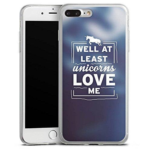 Apple iPhone 8 Plus Slim Case Silikon Hülle Schutzhülle Unicorn Einhorn Sprüche Silikon Slim Case transparent