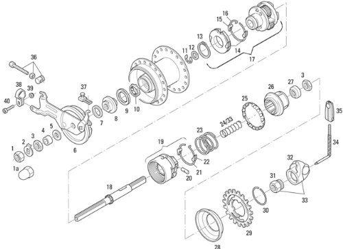 SRAM Spectro T3-T Planetenträger