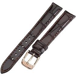 Daniel Wellington Classy York Women's Brown Leather Buckle Watch Strap with Pin, 1002DW