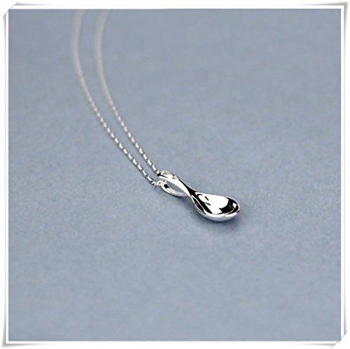 925Sterling Silber Mini-Löffel Anhänger Halskette Cute Charm (Silber Sterling Löffel)