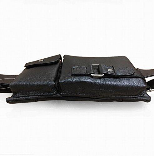 Corpo Esclusivo Classic Multiuso Tempo Libero Cross Pacchetto Spalla Dell'imbracatura Borsa Marsupio Per Gli Uomini Black