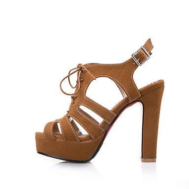 LvYuan Da donna Sandali Comoda Cinturino alla caviglia Suole leggere Finta pelle Estate Formale Serata e festaComoda Cinturino alla caviglia Yellow