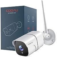 COOAU Cámara de Vigilancia Exterior/Interior con Versión Nocturna, Cámara de Seguridad Wi-Fi 1080P, Soporta Alexa, Audio Bidireccional, Detección de Movimiento, Vista Remota con Android/iOS/PC(Blanco)