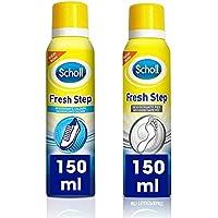 Scholl Fresh Step Desodorante para calzado Antitranspirante + Desodorante para Pies - 2x150ml