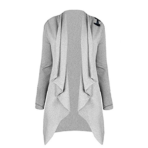 Yuan Damen Maxi Offene Strickjacke Cardigan Langarmshirt Lose Oberteil Mantel Jacke (S, (Kostüme Edc Besten)