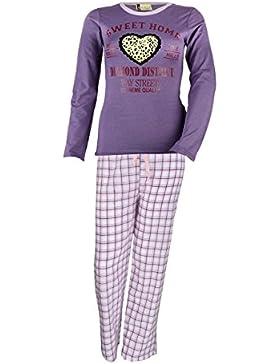 Da donna a maniche lunghe pigiama Sweet Home