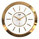 Zcx Wanduhr/Moderne Dekorative Wand Hängen Quarz Uhr Tisch Hängen/Rund Leicht Zu Sehen, Funkuhr (Farbe : Gold)