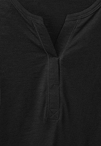 CECIL Damen 3/4-Arm Shirt Amelie Black (Schwarz)