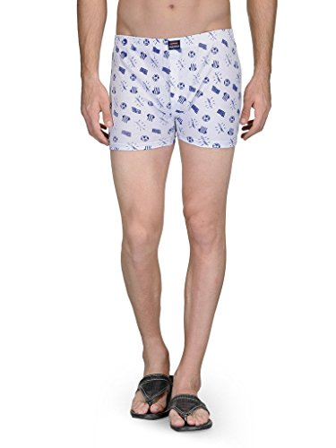 Feed Up Men's Boxer Shorts (FeedU01BoxerNavy-M_Medium_White)  available at amazon for Rs.199