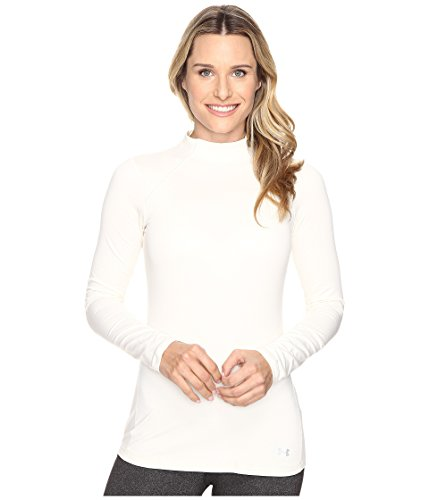 Under Armour Women's ColdGear Armour Mock, Ivory/Glacier Gray, X-Small