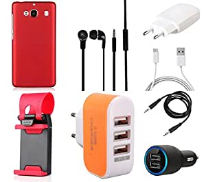 NIROSHA Cover Case Charger Headphone Mobile Holder for Xiaomi Mi2 - Combo