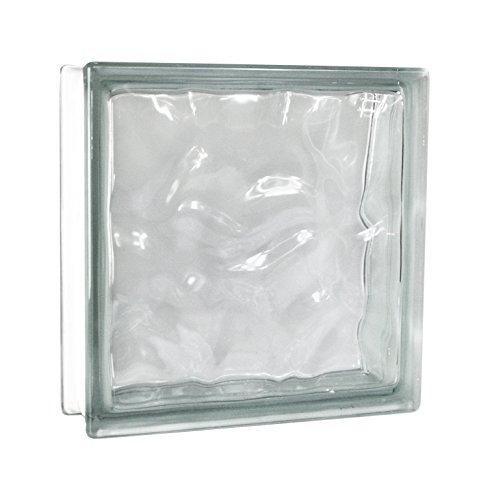 2 piezas FUCHS bloques de vidrio nube neutro 30x30x10 cm