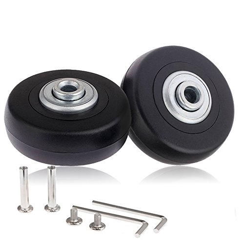 CNEVISON Replacement Luggage Wheels ,Suitcase Scooter Inline Skate Roller Wheel Repairing Kits With ABEC 608zz Bearings Axles PC Wheels
