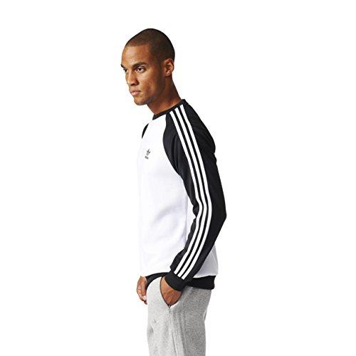 adidas Herren Sst Crew Sweatshirt Weiß - (BLANCO/NEGRO)