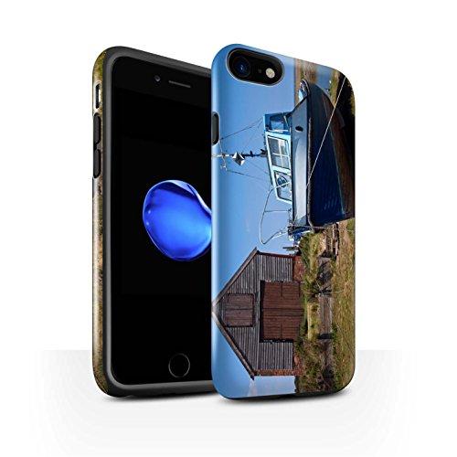 STUFF4 Glanz Harten Stoßfest Hülle / Case für Apple iPhone 8 / Boote Muster / Britischen Küste Kollektion Bootshaus