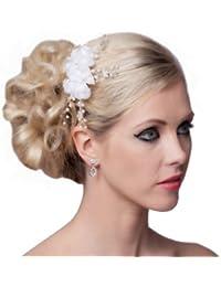 SEXYHER Mode Perlen-Blumen-Haarschmuck - SH-DL-H0548