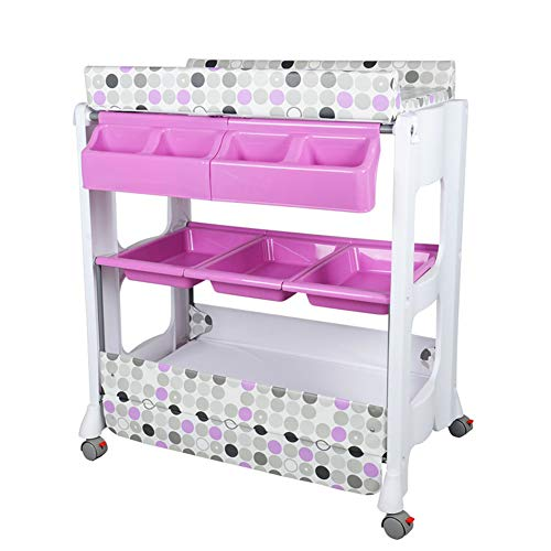 Baby Portable Changer Table Unit and Bath Tub, Infants Massage Bed, Diaper Dresser Station Girl Boy Newborn Crib  HWF Shop