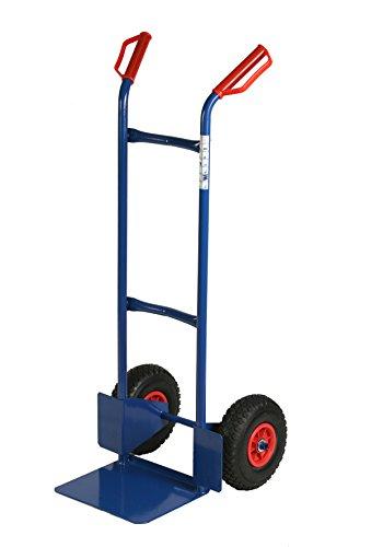 Archimede HT Carrello Doppio Manico Portata kg 200, Metallo, Blu, 47x47x120 cm