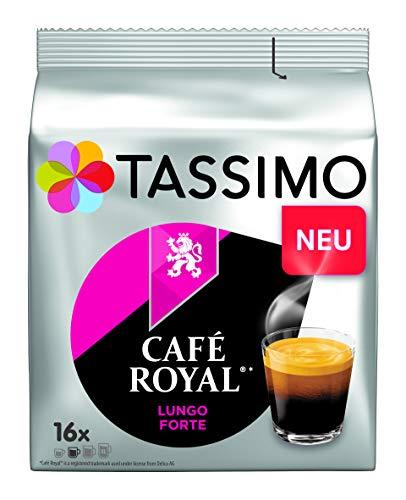 Tassimo Kapseln Café Royal Lungo Forte, 80 Kaffeekapseln, 5er Pack, 5 x 16 Getränke