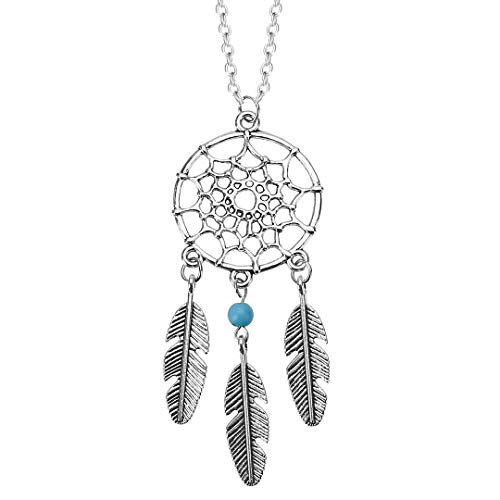 Dream Catcher Feathers Pendant Chain Necklace Fashion Jewelry for Women Kids