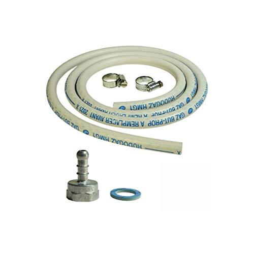 Anschluss-Set Gas Schlauch + Adapter Sauger + Verbinder für Brenner und Gas-Grills