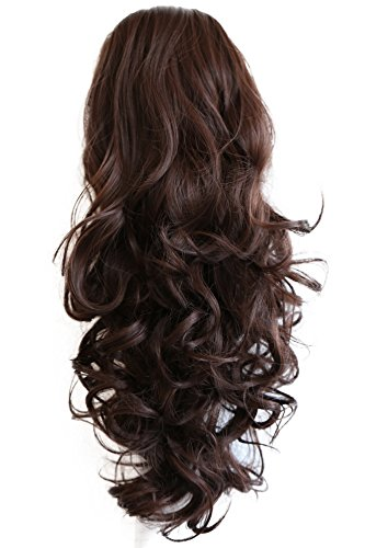 PRETTYSHOP 55cm Haarteil Zopf Pferdeschwanz Haarverdichtung Haarverlängerung VOLUMINÖS 55cm sckokobraun #4 PH20