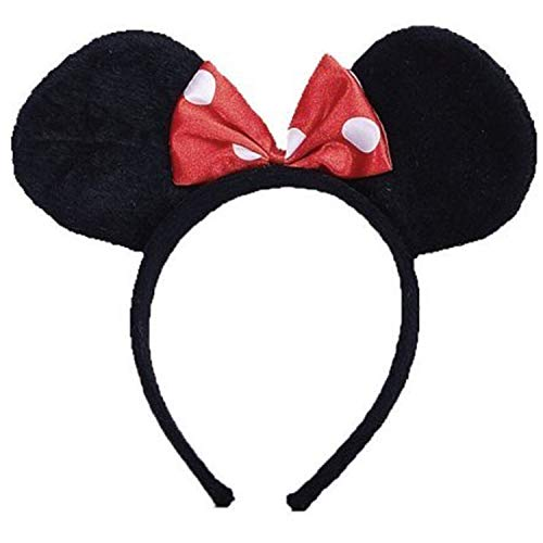 Dress Up America 503.0 Ms. Mouse Ohren, Kostüm, girls, Schwarz, Einheitsgröße (Dress Outfits Up Kids)