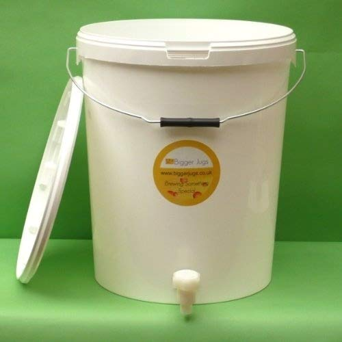 25 Litre Fermentation Vessel / Bucket / Bin with tap + airlock by Bigger Jugs