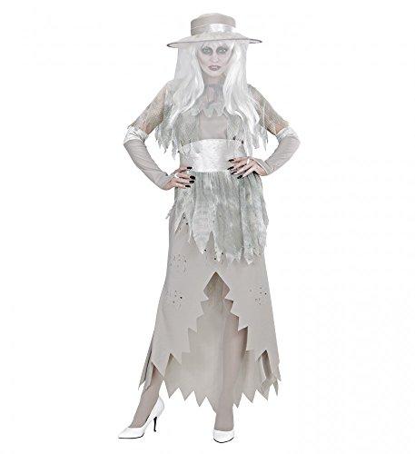 shoperama Damen-Kostüm Geister-Lady mit Hut und Schleier, Größe: XL