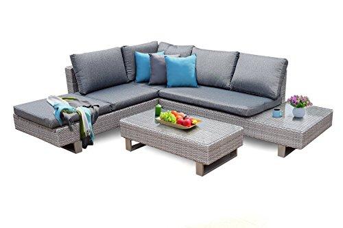 osoltus Alu Lounge Gruppe Polyrattan Gartenmöbel Sitzgruppe AREZZO