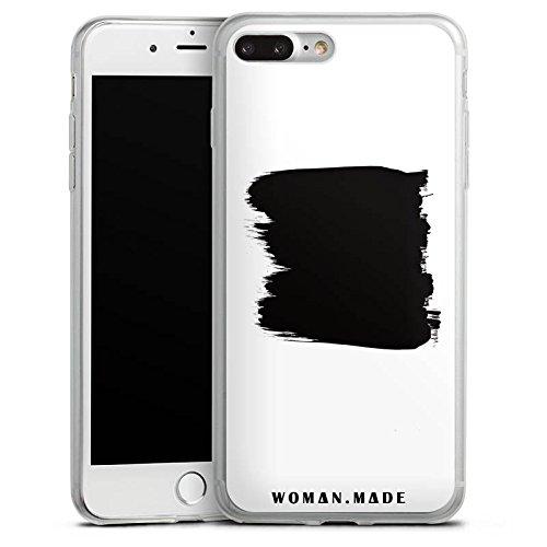 Apple iPhone X Slim Case Silikon Hülle Schutzhülle Malerei Schwarz Kunst Silikon Slim Case transparent