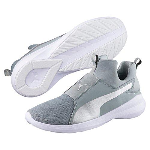 Puma Damen Rebel Mid Hohe Sneaker Grau (Quarry-Silver)