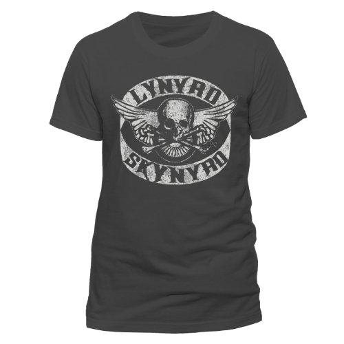 Live Nation - Lynyryd Skynyrd - Biker Patch, Musica e film da uomo,  manica corta, collo rotondo, grigio(grau - grau), 2XL
