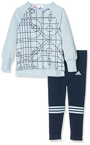 adidas Kinder Baby Mini Me Trainingsanzug, Top:Collegiate Halo Bottom:Collegiate Navy/Ice Blue, 104