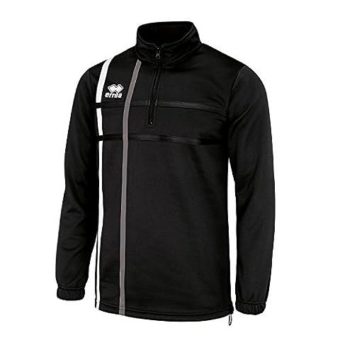 MAXIM Trainingspullover (langarm) mit Reißverschluss und Gummizug von Erreà · UNISEX Herren Damen Zip-Pullover (Halfzip-Sweatshirt) (New Balance Abbigliamento Da Tennis)