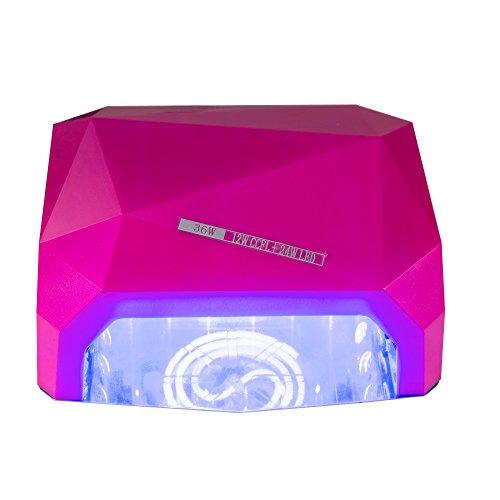 Professionelle Nagel-trockner (MCTECH® UV-Nagellampe Professionelle Nagel-Trockner 36W für Schellack Nagellack und Gel mit Auto 30s Sensor + 3 Zeiteinstellungen (Rose))