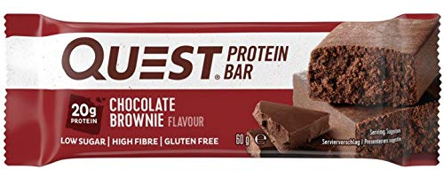 Quest Nutrition Protein Bar Chocolate Brownie 12 x 60 g, 1er Pack (1 x 720 g) (Pure Bar-chocolate Brownie)