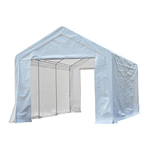 Outsunny® Pavillon Partyzelt Garten Party Zelt Gartenpavillon mit Seitenwänden, Polyester+Metall, weiß, 3x6m