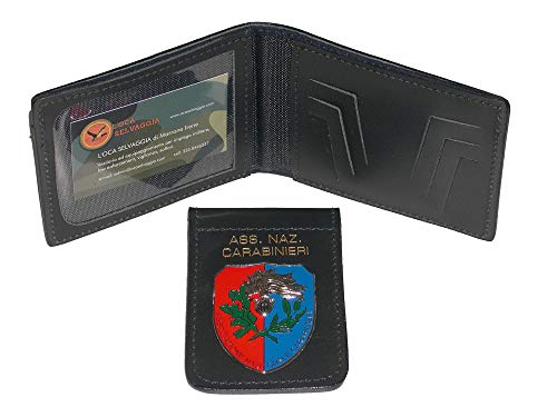 Portafoglio portadocumenti con placca estraibile associazione nazionale carabinieri